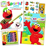 Sesame Street Coloring Book Super Set with Sesame Street Crayons -- 2 Coloring Books, Over 160 Coloring Pages and 60 Stickers Total!