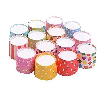 Ancdream Moldes Papel Copa de Horneado 50pcs para Magdalenas Pastel Tarta Cupcakes: Amazon.es: Hogar