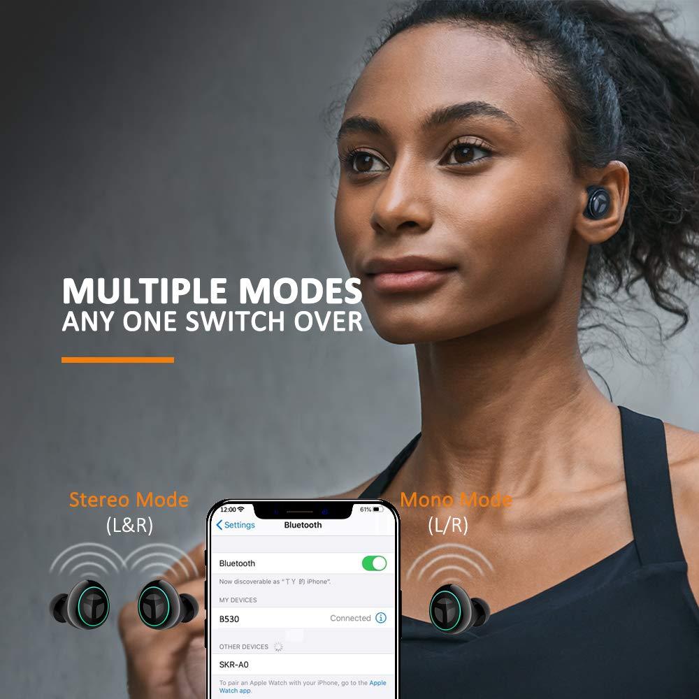 Bluetooth Kopfhörer Unterstützt von Qualcomm® aptXTM Codec, TRANYA B530-Pro Ununterbrochene 10-stündige Musikwiedergabe mit einer einzigen vollen Ladung