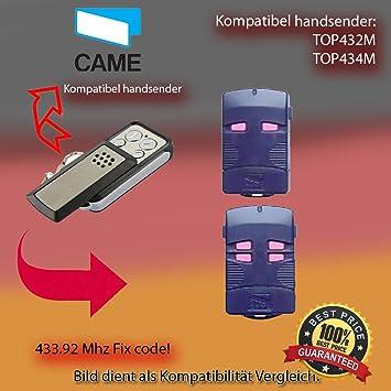 CAME TAM432SA 2 X CAME TOP432EV CAME TOP434EV CAME T434 KOMPATIBEL HANDSENDER ERSATZ CAME TOP432SA TWIN4 CAME TWIN2 CAME TOP432M CAME TOP432S CAME TOP434M KLONE CAME T432