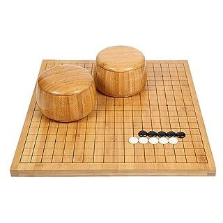 Dfghbn Go Set with Reversible Bamboo Go Board e Include Bowls And Stones 2 Player Classico Gioco da Tavolo di strategia Cinese (Colore, Dimensione : 47 * 44cm)