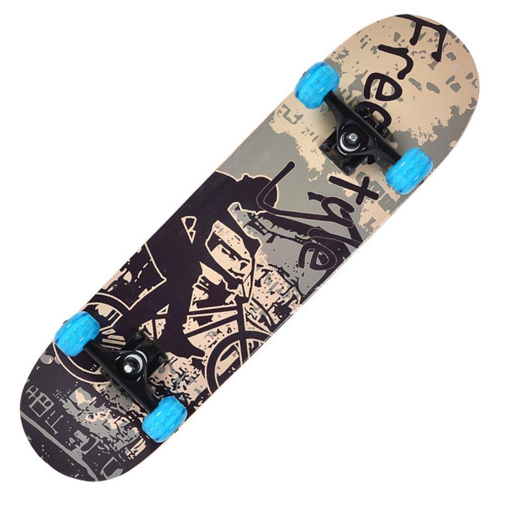 Skate madera de arce profesional adulto/Doble-para arriba patines/ cepillo carretera calle skate para hombres y mujeres/corredora de maniobra con cuatro ...