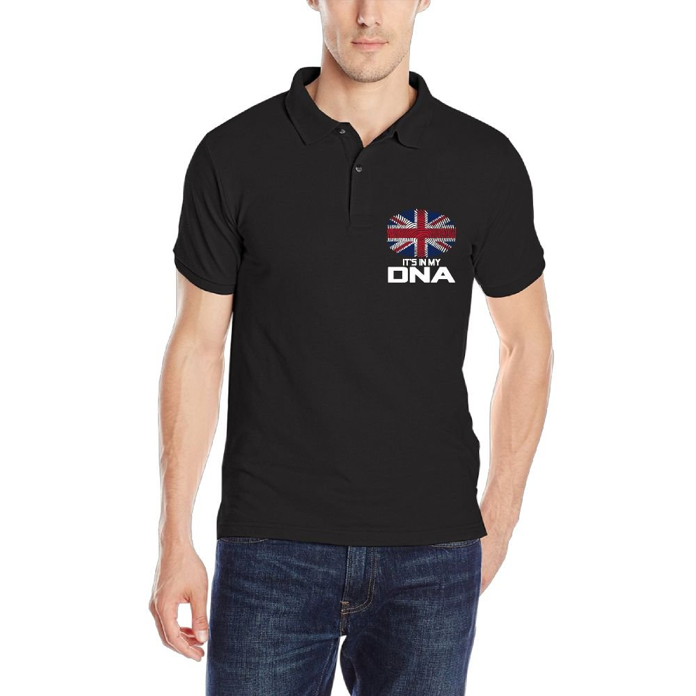 British Its in My DNA Mens Short-Sleeve Polo Sport Shirt