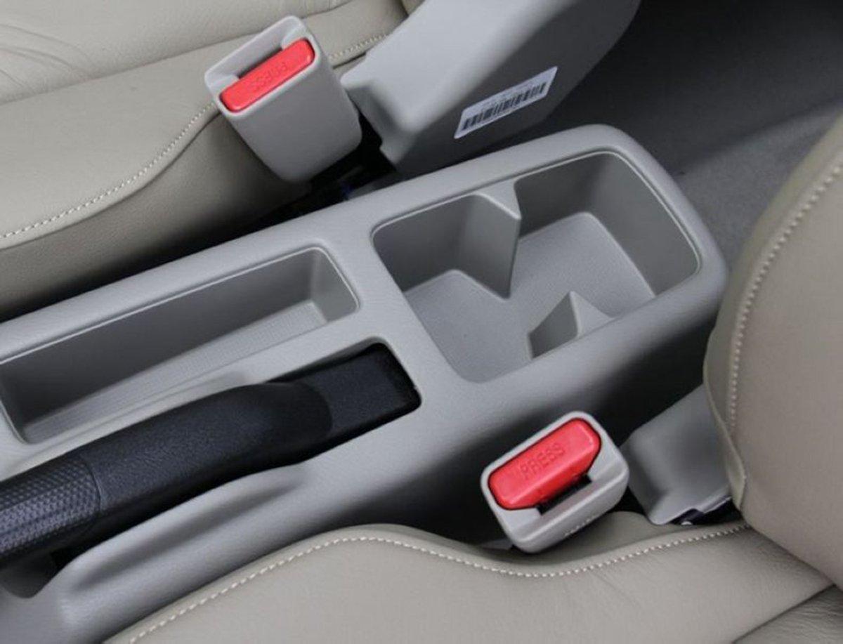 Caja de almacenamiento reposabrazos de piel para consola central de coche