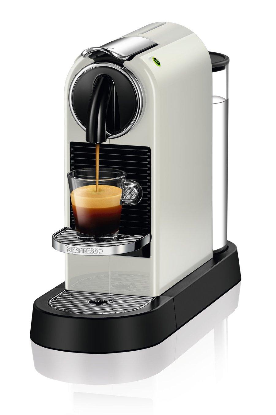Delonghi Nespresso Citiz - Cafetera monodosis, 19 bares, flow-stop, rejilla adaptable para vaso macchiato, modo ahorro energía, color blanco: Amazon.es: ...