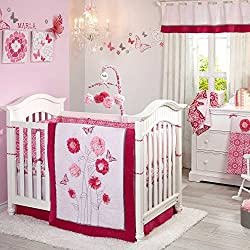 Butterfly Bouquet 5 Piece Baby Crib Bedding Set with Bumper by NoJo