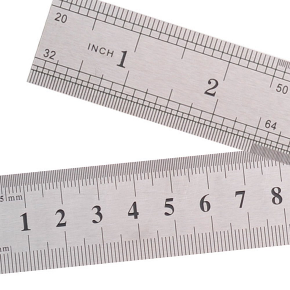 Home Mart 15cm 6 Inch Stainless Metal Ruler Measuring Tool