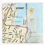 "Design Ideas 5x5"" Sydney Australia Mapkins - Package of 20"