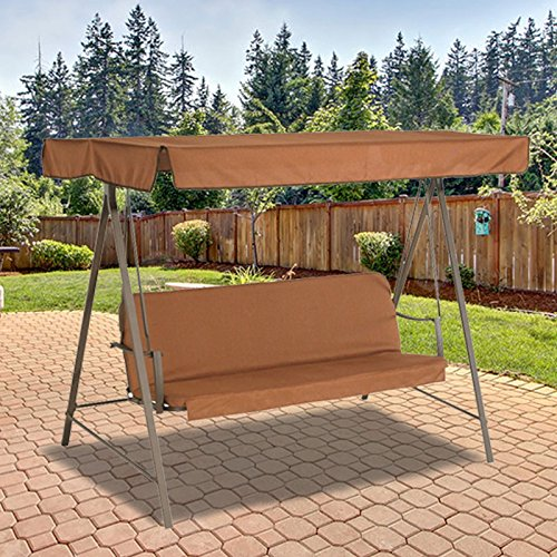 3 Person Flat Roof Swing Replacement Canopy Top Cover