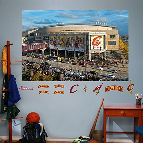 NBA Cleveland Cavaliers Arena Mural Outside The Q Fathead Real Big Decals, 72
