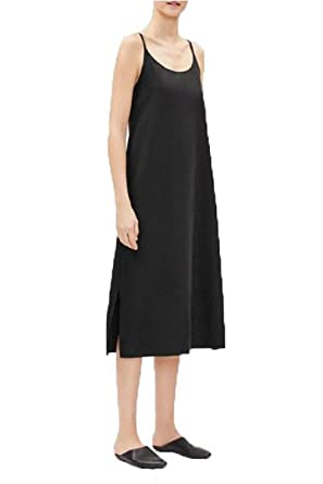 58e0f467a10a Eileen Fisher Sandwashed Tencel Slip Dress at Amazon Women's ...