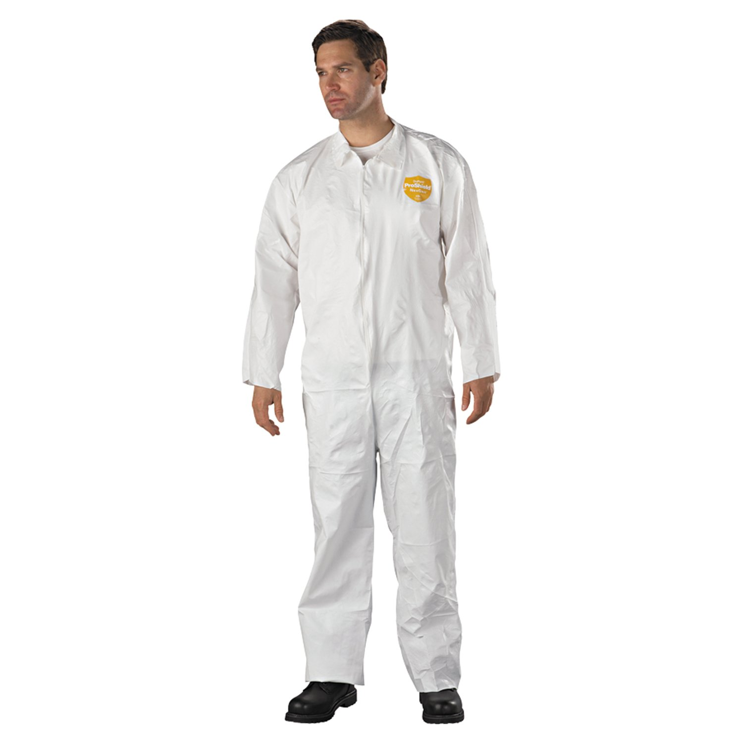 3XL Pack of 25 Dupont ng127s-np-3X ProShield NexGen Coveralls with Attached Hood White