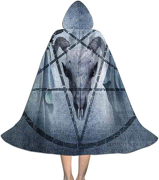 Rexing Capa de Capa Pentagrama Cabra Cráneo Diablo Sueño Bruja de ...