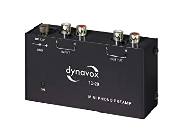 Dynavox TC-20 Preamplificador de Fono, Compacto Carcasa de ...