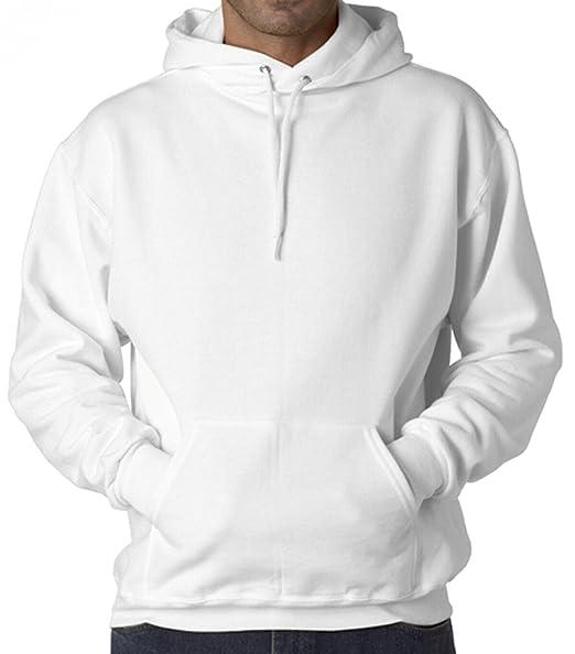 af4bddd36 Rigo Men's White Thick & Heavyweight Pullover Long Sleeve Hoodie Sweatshirt