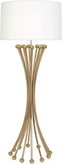 product image for Robert Abbey 476 Jonathan Adler Biarritz - One Light Floor Lamp, Polished Brass Finish with Ascot White Fabric Shade