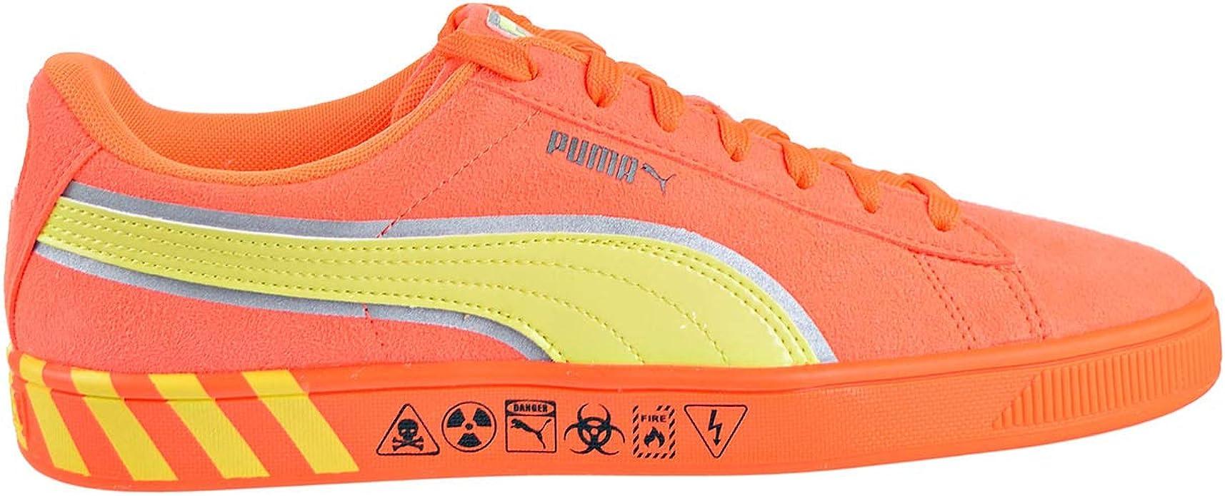 PUMA mens Hazard Orange Sneaker