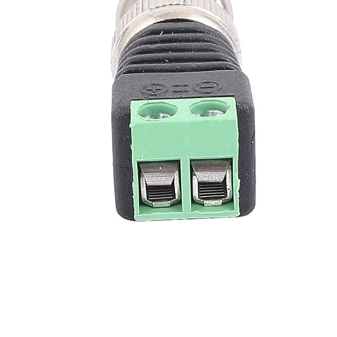 Amazon.com: eDealMax 20 piezas de CAT5 coaxil a CCTV coaxial BNC ...
