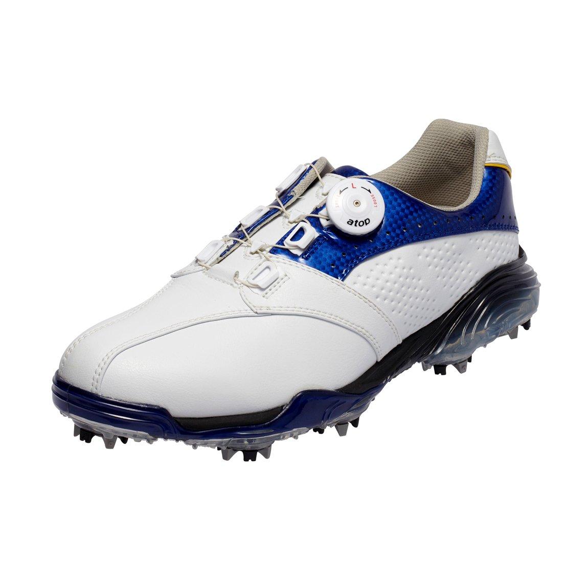 本間ゴルフ Be ZEAL メンズ スポーツモデル ダイヤルシューズ ホワイト/ブルー 27.5cm 3E SS-1602 原産国:中国 素材:甲(人工皮革) 、底(EVAスポンジ/TPU)   B077HFCPRD