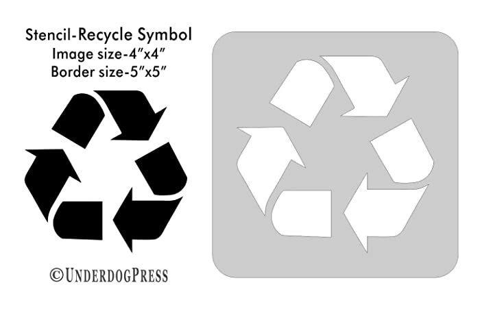 Amazon Large Stencil Recycle Symbol Handmade
