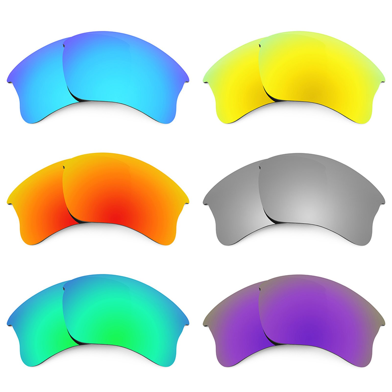 Revant Replacement Lenses for Oakley Flak Jacket XLJ 6 Pair Combo Pack K027 by Revant