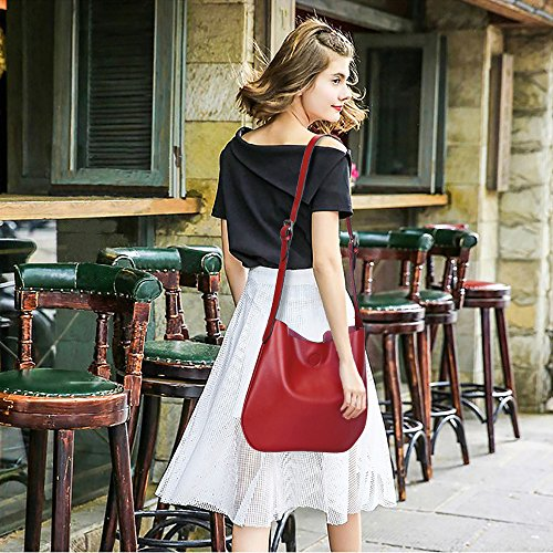 ZONE Ladies Purse for S Bag Wine Shoulder Crossbody Bag Leather Simple Drew S17wqd4a