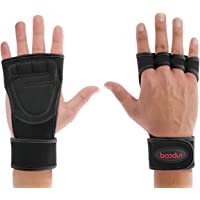 Weightlifting Gloves with Wrist Support, Wonepo Anti Slip Cross Training Gloves with Silicone Padded Grip Strengthener & Palm Protection for Gym Exercise Weight Training WOD (1 Pair)