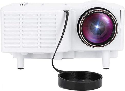 Opinión sobre Mugast UC28 Mini Proyector Portátil HD LED 1080P Vídeo Proyector Cine en Casa,con 100,000 Horas de Uso, Soporta Más de 15 Formatos de Video y Audio.(Blanco)