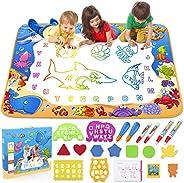 Toyk Aqua Magic Mat - Kids Painting Writing Doodle Board Toy - Color Doodle Drawing Mat Bring Pens Educational