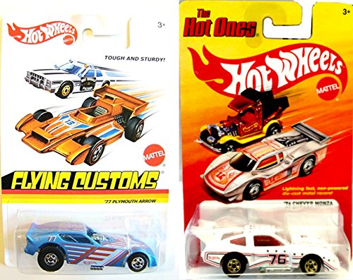 Chevy Hot Wheels Set - '77 Plymouth Arrow & '76 Chevy Monza Racing Cars Flying Customs & The Hot - Chevelle 76 Chevy