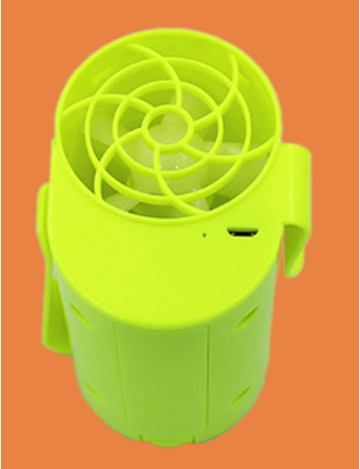 Color : Green ZHANGQIAO-AE Hanging Waist Outdoor Fan USB Charging Small Fan Portable Miniskirt Expectant Wind Lithium Battery Personal Fans Mini USB Desktop Fan Small Personal Silent Fan Por