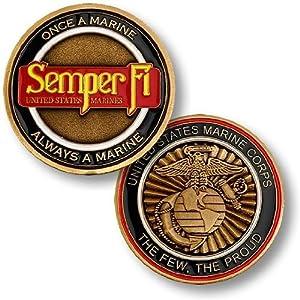 Marine Corps Semper Fi Challenge Coin…