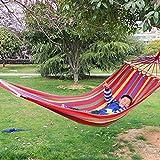 Rrimin Canvas Double Spreader Bar Hammock Outdoor Garden Swing Hang Bed Colorful (# 3)
