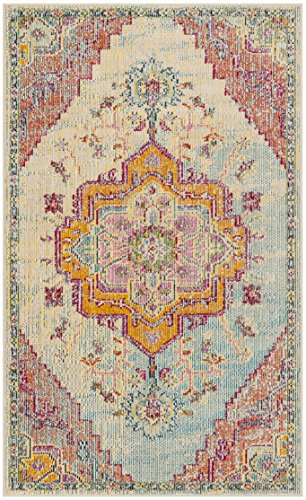 (Safavieh Crystal Collection CRS501B Light Blue and Fuchsia Pink Bohemian Medallion Area Rug (4' x 6'))