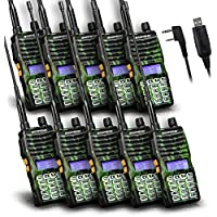 Baofeng - 10PCS UV-5XTP 8W Dual Display VHF136-174MHz UHF400-520MHz Handheld Two-way Radio Standby Transceiver Walkie Talkie+Programming Cable