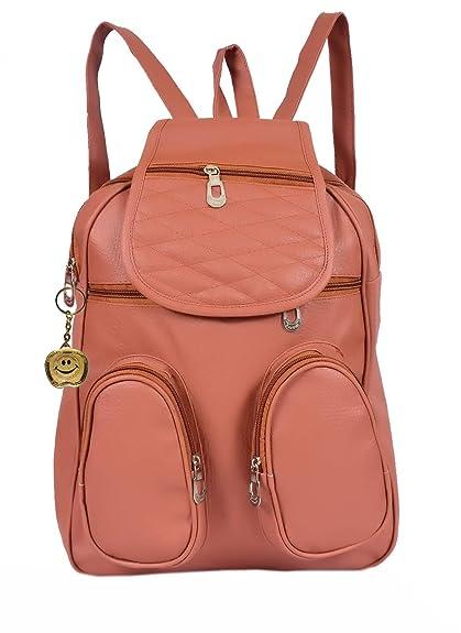 e7ffd0235efcc3 Beets Collection Student Shoulder Backpack for Women & Girls Bag (Brown)