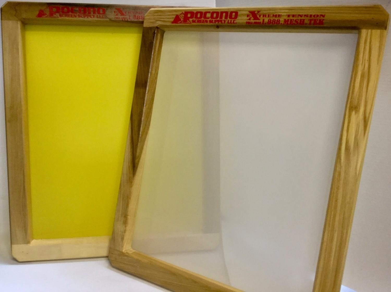 Pocono Screen Supply 18 X 20 Wooden Screen Printing Frame Two-Pack