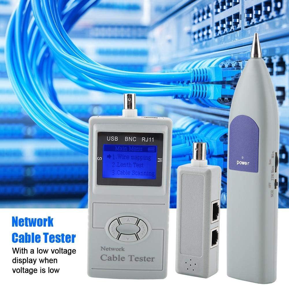 SML-8828 M/ètre de Testeur de Traqueur de Fils C/âble R/éseau LCD avec D/étecteur Num/érique