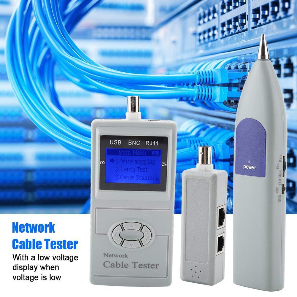 RJ11 RJ45 Line Finder Digital LCD Network Cable Wiring Tester Meter Tracker Detector Digital Line finder