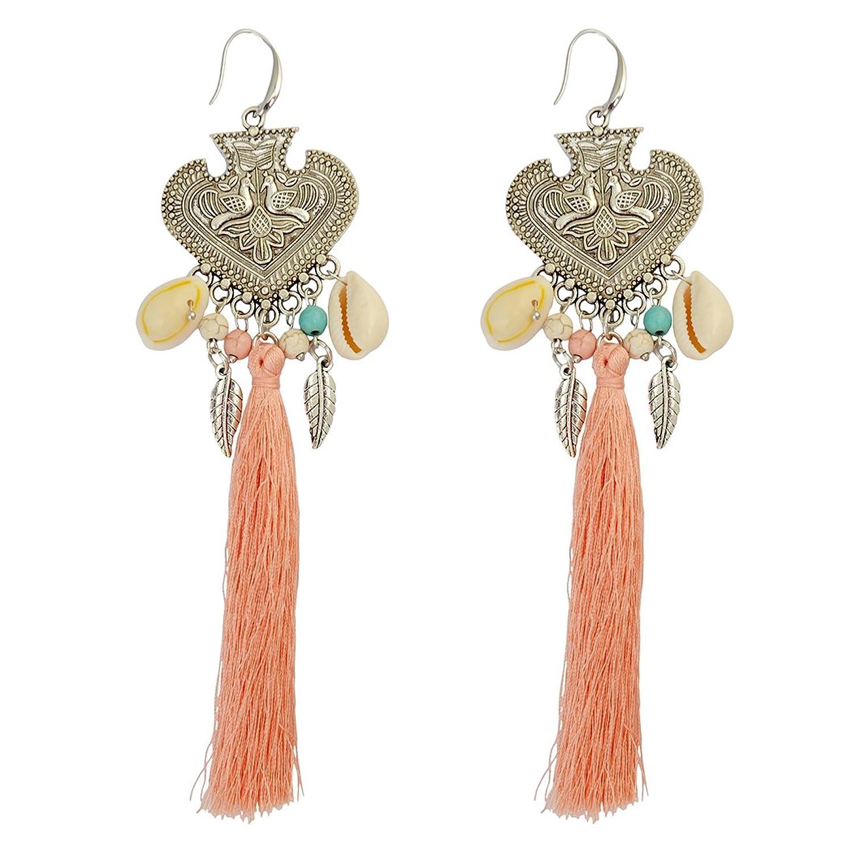 Generous Earrings Natural Peacock Earring Image 1