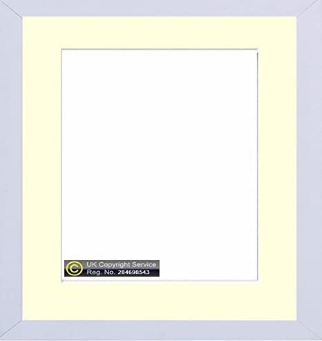 New Enem White Square Photo Picture Frame With Mount Border White ...