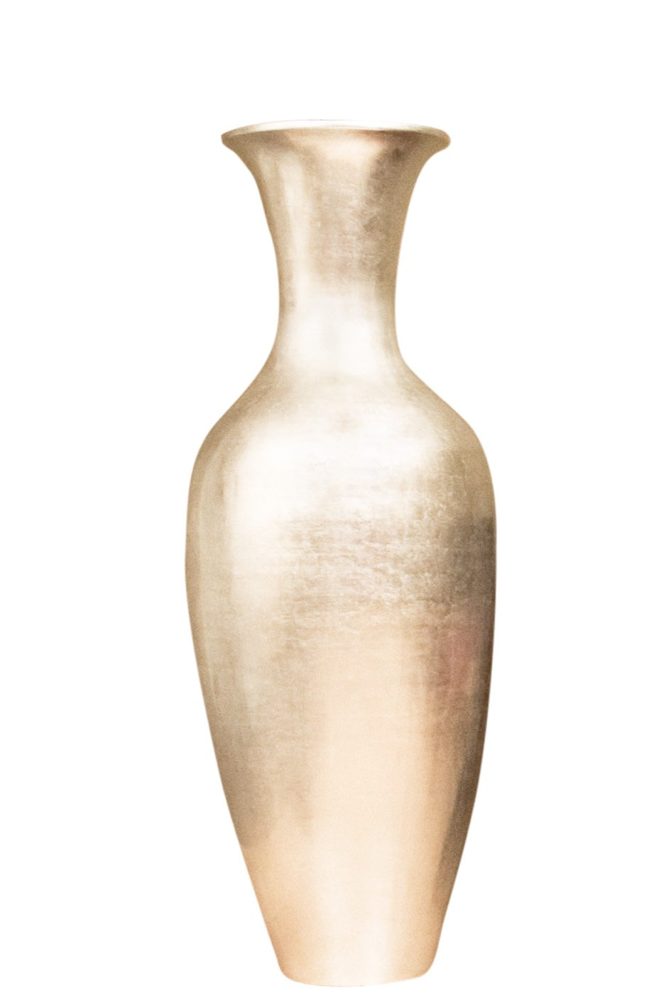 GreenFloralCrafts 47 in. Classic Bamboo Large Floor Vase - Silver