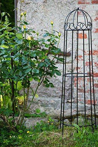Kuheiga Rankgerust Schwarz Obelisk Rosenhilfe H 120cm Rankhilfe