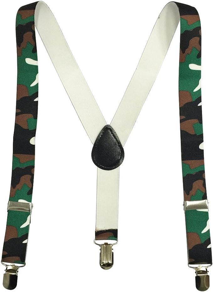 Childrens Toddlers Boy Girls Elastic Adjustable Suspender Khaki Beige USA SELLER