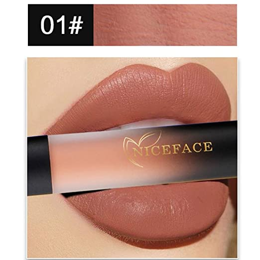 5809c70a34 Amazon.com: Anboo 18 Colors Silk Matte Liquid Lipstick Waterproof Makeup  Sexy Lip Gloss (A): Clothing