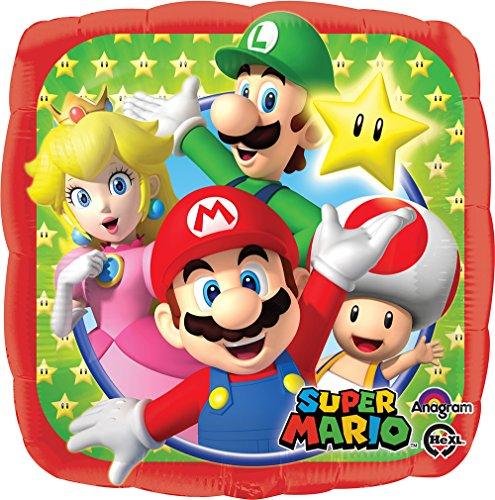 "Price comparison product image Mario Bros 18"" Mylar Balloon in Bulk (3 Pack)"
