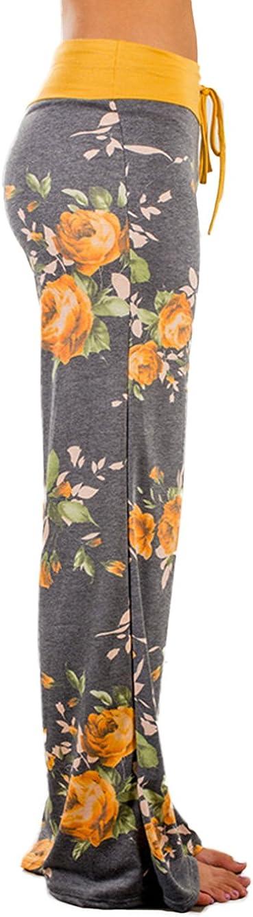 con motivo floreale a gamba larga Pigiama da donna Famulily stile casual