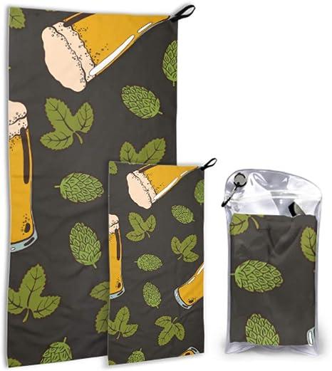 JOCHUAN Creative Retro Party Beer Drink 2 Pack Microfiber Sports Towel Juego de Toallas para niños Secado rápido Lo Mejor para Viajes de Gimnasio Mochilero Yoga Fitnes: Amazon.es: Deportes y aire libre