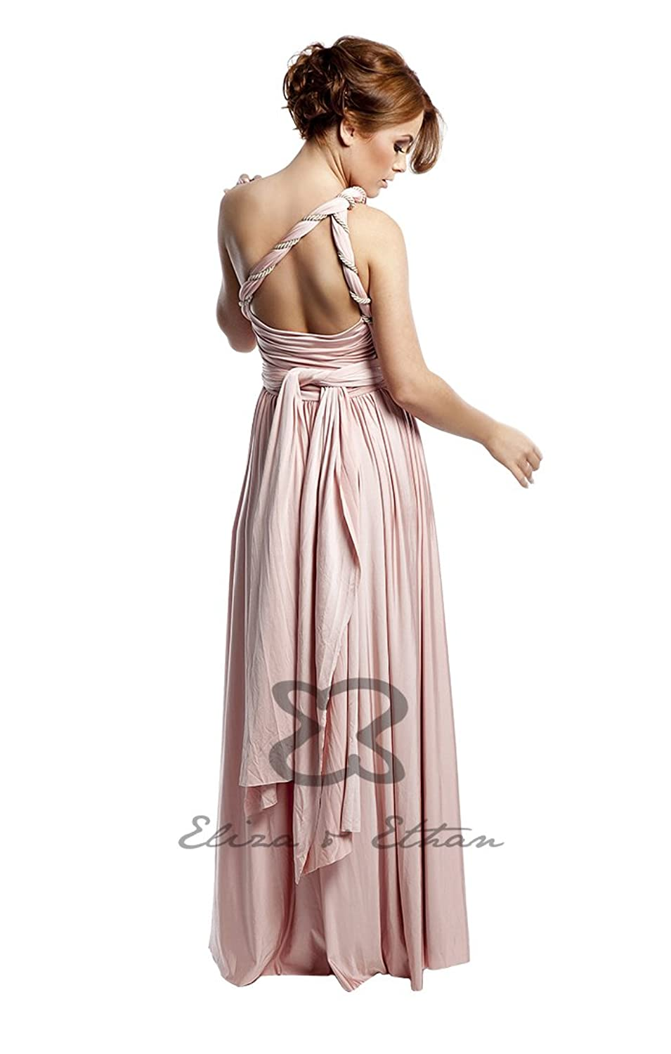 Brautjungfernkleid Wickelkleid Dusty Rose Altrosa Eliza & Ethan one ...