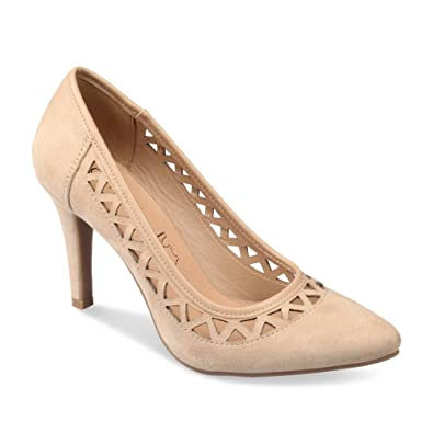 4d13a514f49 Escarpins BEIGE GRANDS BOULEVARDS Femme Chaussea  Amazon.fr ...